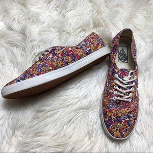 Vans Unisex Pink Floral  Old Skool Sneakers Lace